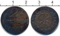 Изображение Монеты Оснабрук 2 пфеннига 1805 Медь VF