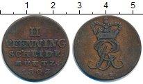 Изображение Монеты Брауншвайг-Люнебург-Каленберг-Ганновер 2 пфеннига 1803 Медь XF- Георг III