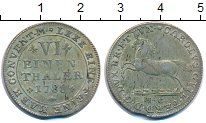 Изображение Монеты Брауншвайг-Вольфенбюттель 1/6 талера 1788 Серебро XF