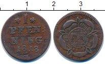 Изображение Монеты Липпе-Детмольд 1 пфенниг 1818 Медь VF
