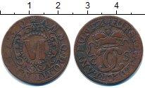 Изображение Монеты Германия Вальдек 6 пфеннигов 1730 Медь XF-