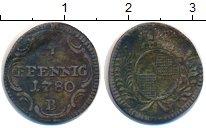 Изображение Монеты Бранденбург 4 пфеннига 1780 Серебро VF