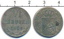 Изображение Монеты Баден 6 крейцеров 1808 Серебро XF-