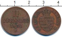 Изображение Монеты Саксе-Альтенбург 2 пфеннига 1852 Медь XF