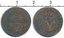 Изображение Монеты Баден 3 крейцера 1816 Серебро VF