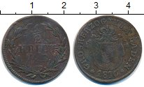Изображение Монеты Баден 1/2 крейцера 1816 Медь VF Герб
