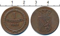 Изображение Монеты Баден 1 крейцер 1807 Медь VF