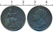 Изображение Монеты Великобритания 1 фартинг 1823 Медь XF