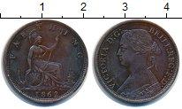 Изображение Монеты Великобритания 1 фартинг 1862 Медь XF