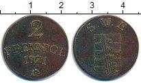 Изображение Монеты Саксен-Веймар-Эйзенах 2 пфеннига 1821 Медь VF