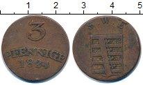 Изображение Монеты Саксен-Веймар-Эйзенах 3 пфеннига 1824 Медь XF