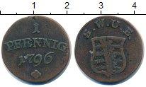 Изображение Монеты Германия Саксен-Веймар-Эйзенах 1 пфенниг 1796 Медь VF