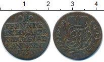Изображение Монеты Германия Шварцбург-Рудольфштадт 1 пфенниг 1753 Медь VF