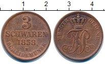Изображение Монеты Ольденбург 3 шварена 1858 Медь XF