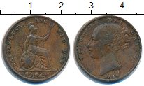 Изображение Монеты Великобритания 1 фартинг 1854 Медь XF