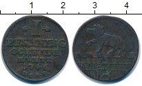 Изображение Монеты Анхальт-Бернбург 1 пфенниг 1746 Медь VF