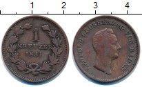 Изображение Монеты Баден 1 крейцер 1831 Медь VF