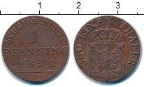 Изображение Монеты Пруссия 1 пфенниг 1821 Медь UNC-