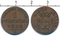 Изображение Монеты Пруссия 1 пфенниг 1838 Медь XF