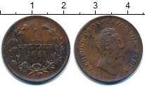 Изображение Монеты Баден 1 крейцер 1844 Медь XF