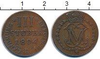 Изображение Монеты Берг 3 стюбера 1804 Серебро XF