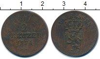 Изображение Монеты Гессен 1/2 крейцера 1824 Медь VF Герб