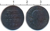Изображение Монеты Германия Силезия 2 гроша 1772 Медь VF