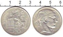Изображение Монеты Бельгия 50 франков 1948 Серебро VF