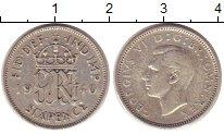 Изображение Монеты Великобритания 6 пенсов 1940 Серебро XF