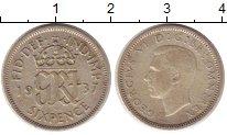 Изображение Монеты Великобритания 6 пенсов 1937 Серебро XF