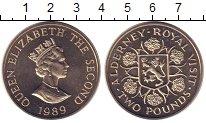 Изображение Монеты Олдерни 2 фунта 1989 Медно-никель UNC-