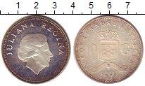 Изображение Монеты Антильские острова 10 гульденов 1978 Серебро XF
