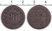 Изображение Монеты Австрия 20 крейцеров 1917 Железо XF