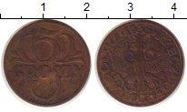 Изображение Монеты Польша 5 грош 1935 Бронза VF
