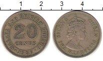 Изображение Монеты Малайя 20 центов 1956 Медно-никель XF