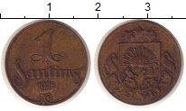 Изображение Монеты Латвия 1 сантим 1928 Бронза XF-