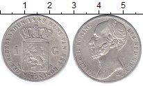 Изображение Монеты Нидерланды 1 гульден 1848 Серебро XF- Виллем II.
