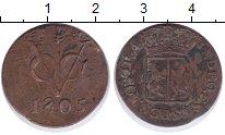 Изображение Монеты Нидерландская Индия 1 дьюит 1805 Медь XF-