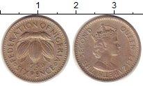 Изображение Монеты Нигерия 6 пенсов 1959 Медно-никель XF Елизавета II