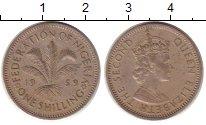 Изображение Монеты Нигерия 1 шиллинг 1959 Медно-никель XF Елизавета II
