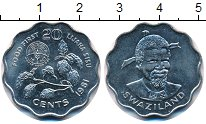 Изображение Монеты Свазиленд 20 центов 1981 Медно-никель UNC ФАО.