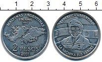 Изображение Монеты Аргентина 2 песо 2007 Медно-никель UNC