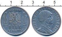 Изображение Монеты Албания 1 лек 1939 Никель XF