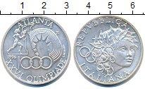 Изображение Монеты Италия 1000 лир 1996 Серебро UNC Олимпиада в Атланте