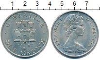 Изображение Монеты Гибралтар 1 крона 1967 Медно-никель UNC Елизавета II.  Герб