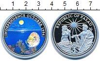 Изображение Монеты Палау 5 долларов 1994 Серебро Proof Цифровая  печать.  Н