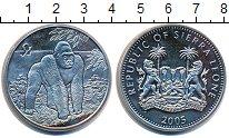 Изображение Монеты Сьерра-Леоне 1 доллар 2005 Медно-никель UNC Горилла