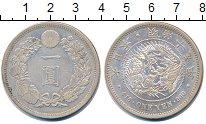 Изображение Монеты Япония 1 йена 1882 Серебро UNC- Мицухито. Y# A25.2