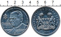 Изображение Монеты Сьерра-Леоне 1 доллар 2005 Медно-никель UNC Максимус Бенедикт XV