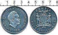 Изображение Монеты Замбия 5 шиллингов 1965 Медно-никель UNC